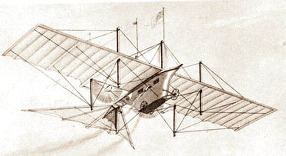 he Henson Aerial Steam Carriage